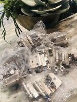 LOT OF 10 PAIRS -- Cabinet Hinges Satin Nickel 3/8 Inset New Self Closing