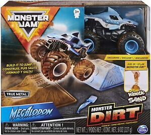 Official Megalodon Monster Jam 1:64 Spin Master Monster Dirt Kinetic Sand