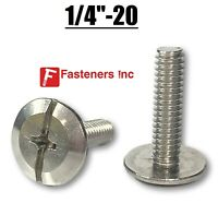 "1/4""-20 Stainless Steel Phillips / Slotted Hurricane Sidewalk Bolts  Choose Size"