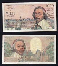 1000 francs Richelieu France 1956 BB/VF  °