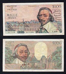 Francia / France - 1000 francs Richelieu 6/12/1956 BB/VF  A-04