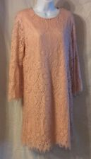Women's Worthington Lace Dress with Long Bell Sleeves, Size Large, Nylon Blend