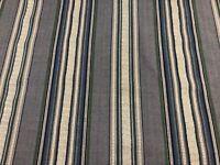 Calvado Timor Dobby Stripe Indigo Blue  Cotton /Linen Curtain/Upholstery Fabric