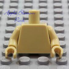 NEW Lego Girl/Boy Minifig Plain TAN TORSO Star Wars Ewok Blank Body Upper Hands