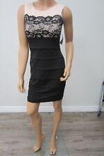 *NWT* En Focus Studio Sexy Black Silhouette Lace Dress Size  4