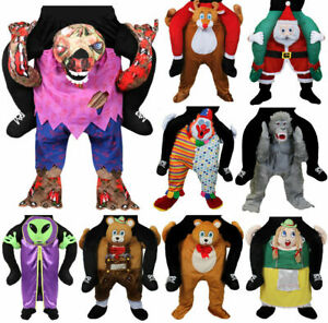 ADULT HALLOWEEN COSTUME MENS RIDE ON FANCY DRESS PIGGY BACK NOVELTY FUNNY OUTFIT