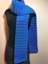 Gurglefish Handmade Crochet Scarf~6x89~Gorgeous Periwinkle Dragonfly Soft Warm!