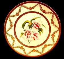"""LIMOGES CABINET PLATE *ORCHIDS """"STANHOPEA MARTIANA"""" SIGNED SCHOPP c.1880"""
