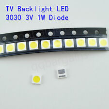 TV Backlight LED Diode Hitachi SMD 3030 3V 1W Cool White LED 10PCS TLC Philips
