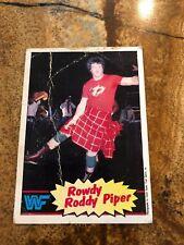 1985 WWF Rowdy Roddy Piper Trading Card