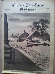 Selten Zeitschrift Zeitung The Neue York Times Magazin December 25 1938 section7
