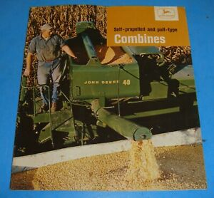 1964 John Deere Self Propelled & Pull Type Combine Sales Brochure