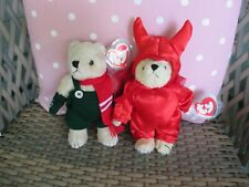 Ty Beanie Babies Attic Treasure 'Devlin' And 'Weatherby'