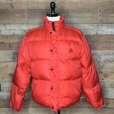 Vintage Alpine Designs Mens Red Quilted Goose Down Jacket Coat Large Warm