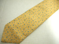 """Brooks Brothers Recent Tag Mens Necktie Tie Yellow Blue White Floral Silk 58"""""""