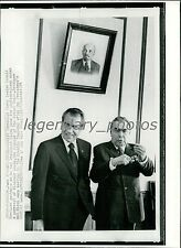 1974 Richard Nixon Leonid Brezhnev at Kremlin Original New Service Photo
