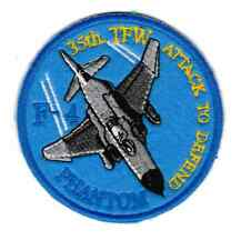 [Patch] AEREO F-4 PHANTOM 35th TFW diametro cm 9 toppa ricamo REPLICA -707