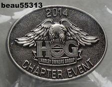 HARLEY DAVIDSON OWNERS GROUP CHAPTER EVENT 2014 HOG VEST JACKET HAT PIN