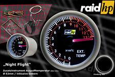 Raid Nightflight Abgastemperatur Zusatzinstrument Schwarzglas Anzeige 52mm