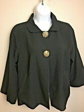 New listing First Option Women's 6 Black Suit Jacket 1940's Swing Look Rhinestone But. Euc!