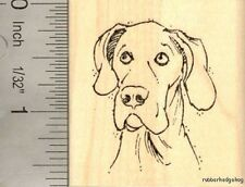 Great Dane with Natural Ears Rubber Stamp E15416 German Mastiff, Danish Hound