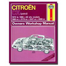 Haynes Manual Citroen CX Petrol 75 - 88 Car Workshop Repair Book 0528