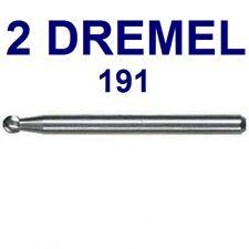2 NEW AUTHENTIC DREMEL HIGH SPEED,  HIGH GRADE STEEL 191 CUTTER BIT