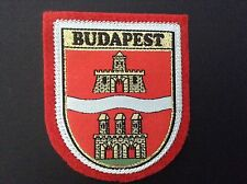 BUDAPEST souvenir patch ecusson woven badge SCUTELLIPHILY