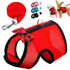 Cat Harness and Leash Set Escape Proof Pet Soft Air Mesh Vest Walking Jacket SML