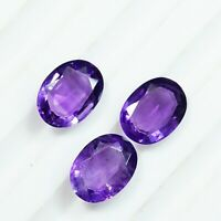 3.10 Cts Natural Amethyst Oval Cut 3X6X8 mm 3 Pcs Lot Loose Gemstones AAA