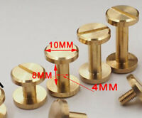 3pcs Gold Chicago Screws for DIY Kydex and Leather Gun Holsters/Clips