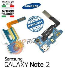 CONNETTORE USB + CUFFIE Ricambio SAMSUNG GALAXY note 2 N7100 lte flat ricarica