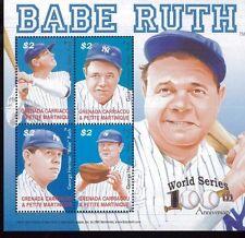 Baseball / World Series / BABE RUTH Mini Sheet #2567 MNH Grenada/Grenadines E12