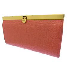 Folli Follie Wallet Purse Long Wallet Logo Pink Gold Woman Authentic Used G374