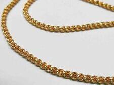 """SOLID 24k Gold Plated Yellow Jewelry 4mm Harness Rope Unisex Chain Necklace 22"""""""
