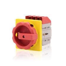 Hauptschalter m. Zentralbefestigung 4-polig 25A Not-Aus-Schalter Premium Version