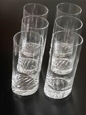 TILTED Incline Mackmyra Highball cocktail CRYSTAL glass set of 6 Sweeden 450 ml.
