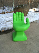 "Neon Green Kids Size HAND SHAPED CHAIR 24"" 70's play set Retro EAMES iCarly NEW"