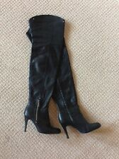 Tall Black Boots, Thigh High Size 8