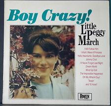 LITTLE PEGGY MARCH - BOY CRAZY! 1986 RAVEN REC 1017 OZ COMPILATION