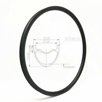 29 Inch MTB Carbon Rim Mountain Rim Hookless 30mm Wide 32H Tubeless Compatible