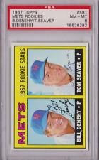 1967 Topps Mets Rookies Bill Denehy Tom Seaver #581 PSA 8 P649