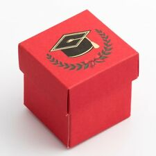 Graduation - Square Box & Lid - 50x50x50mm - 10 Pack