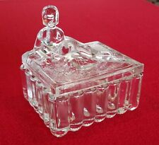 Delilah Powder Box w Nude Lady Lid in Clear Glass ~ Rare Classic
