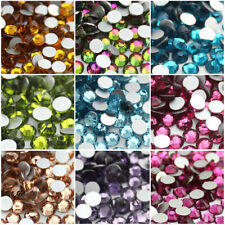 1440 pcs Crystal Nail Art Rhinestones Non Hotfix Flat back Face Cut Glass Gems