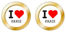 Kfz-Aufkleber I love Paris Set KA