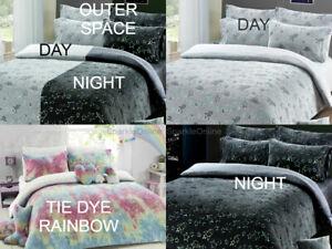 Teddy Bear Fleece Tie Dye Rainbow DESIGN Duvet Quilt Cover KIDS BEDDING SETS
