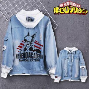 Anime My Hero Academia BakuGou KATSUKI Autum Hoodie Jacket Sweatshirt Coat TOPs