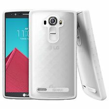 For LG G4 2015 Case Clear Poetic【Affinity】[Leather Back] TPU Grip Bumper Cover