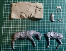 METAL MODELES - HORSE 54mm WHITE METAL
